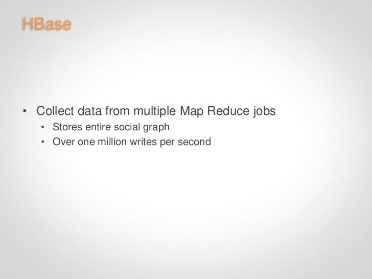 Tips & Tricks• Distributed cache database   • Sped up some Map Reduce jobs by hours   • Be sure to use counters!