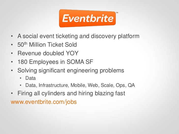 •   A social event ticketing and discovery platform•   50th Million Ticket Sold•   Revenue doubled YOY•   180 Employees in...
