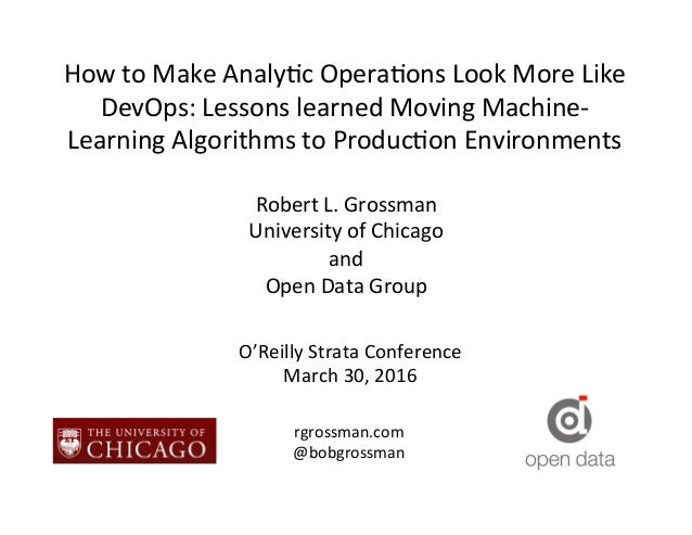 How  to  Make  Analy.c  Opera.ons  Look  More  Like   DevOps:  Lessons  learned  Moving  Machine-...