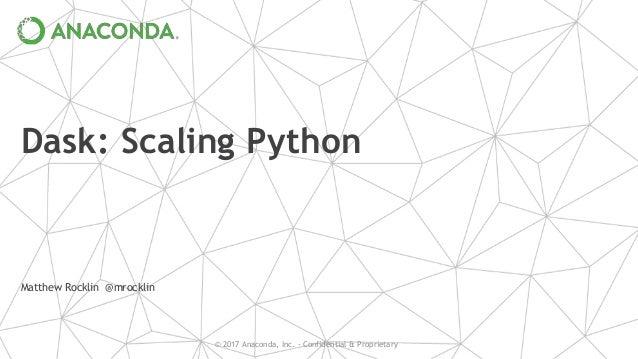 Dask: Scaling Python