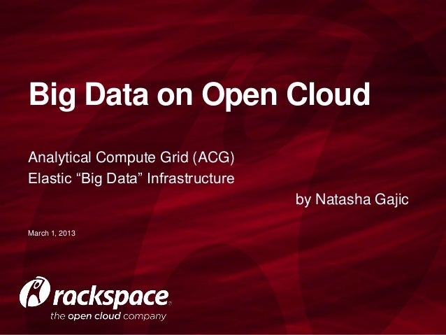 Rackspace Analytical Compute Grid (ACG)