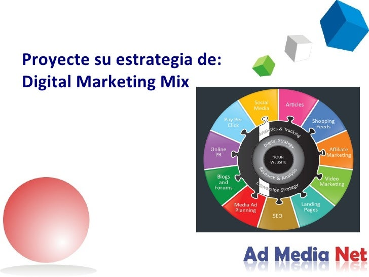 Proyecte su estrategia de: Digital Marketing Mix