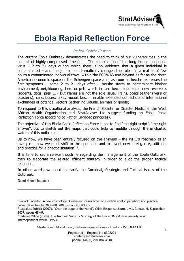 Ebola essays