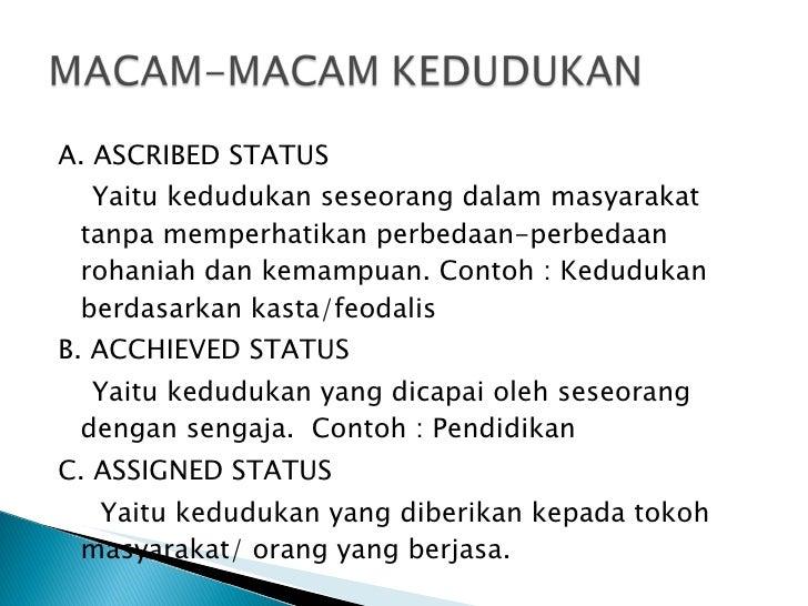assigned status sosiologi