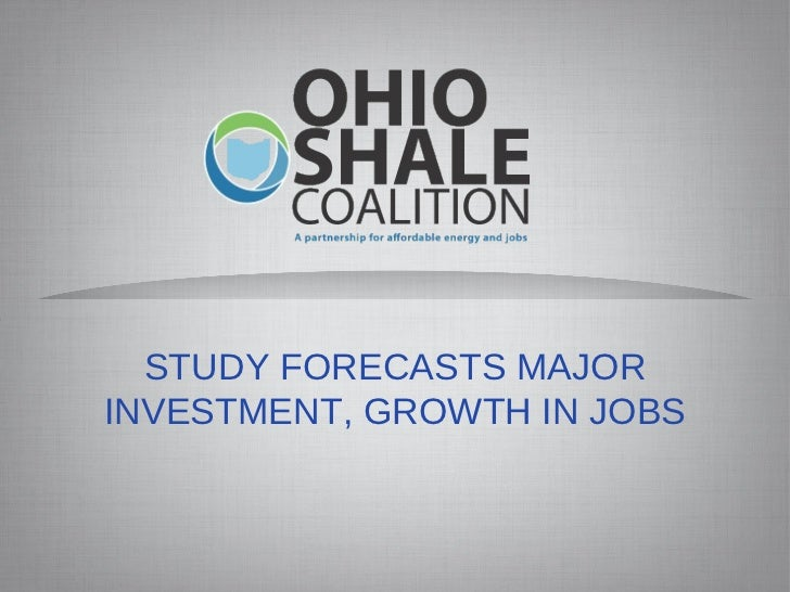 STUDY FORECASTS MAJOR INVESTMENT, GROWTH IN JOBS