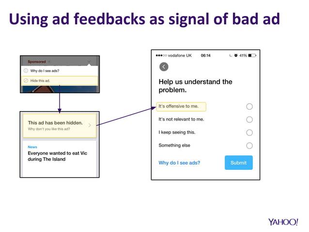 Using ad feedbacks as signal of bad ad
