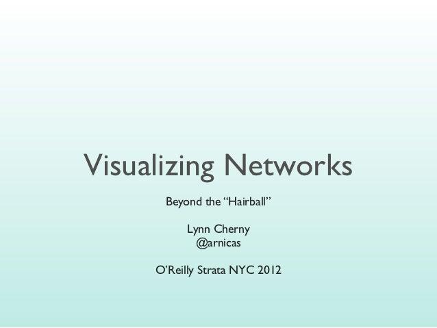 "Visualizing Networks       Beyond the ""Hairball""             Lynn Cherny              @arnicas       O'Reilly Strata NYC 2..."