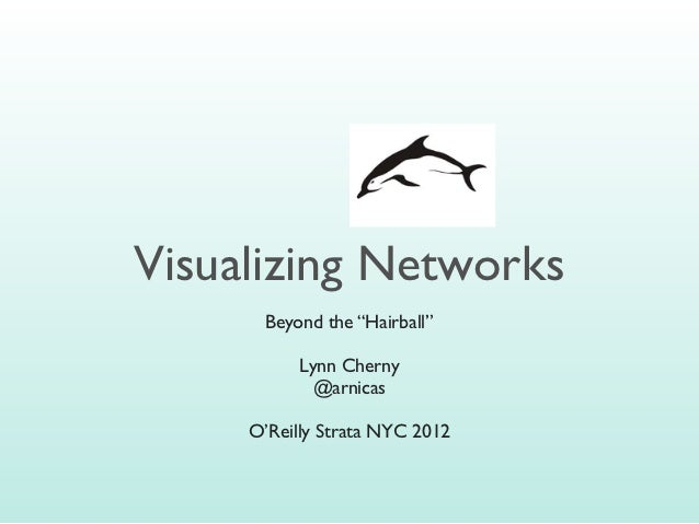 Visualizing Networks: Beyond the Hairball Slide 2