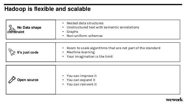 It's just code Hadoop is flexible and scalable • Room to scale algorithms that are not part of the standard • Machine lear...