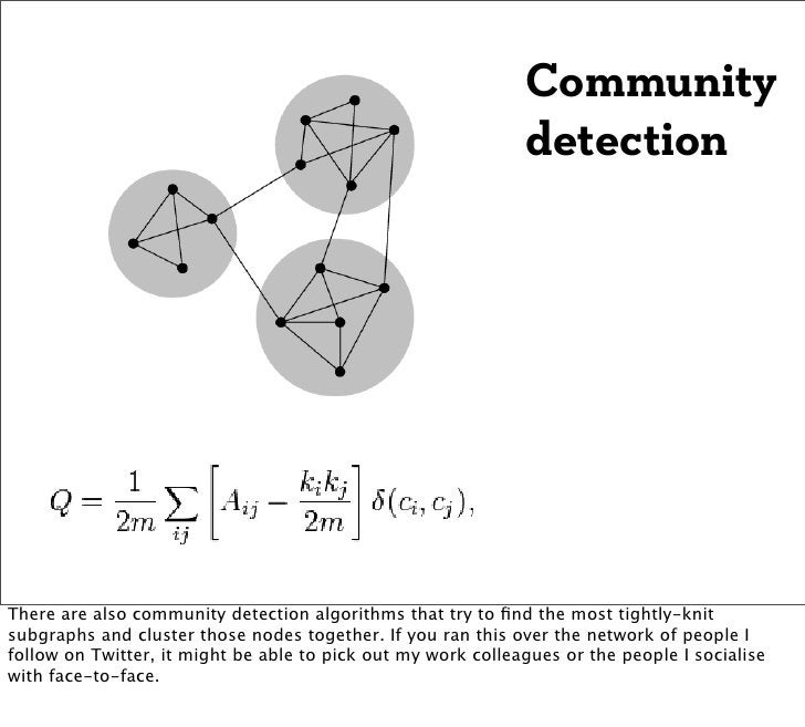 Community                                                              detectionThere are also community detection algorit...