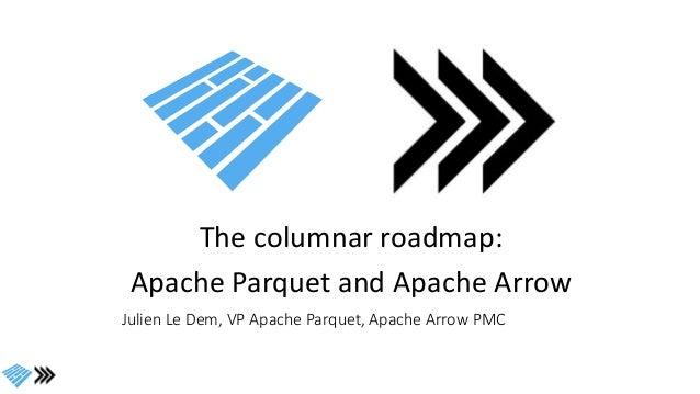 The columnar roadmap: Apache Parquet and Apache Arrow Julien Le Dem, VP Apache Parquet, Apache Arrow PMC