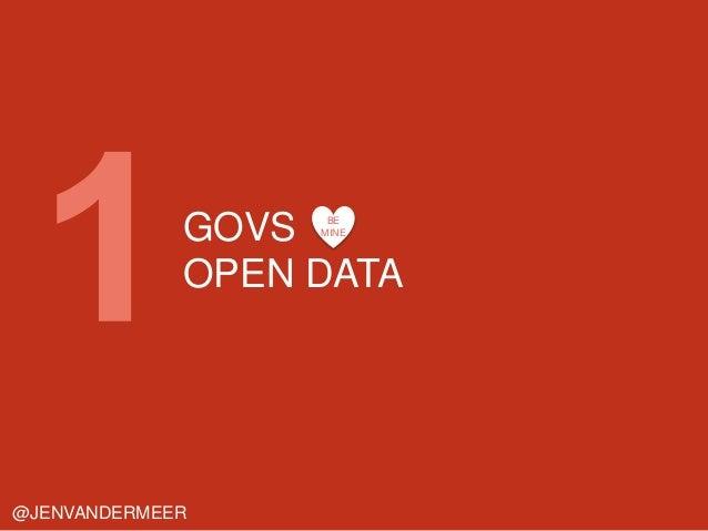 GOVS OPEN DATA @JENVANDERMEER BE MINE