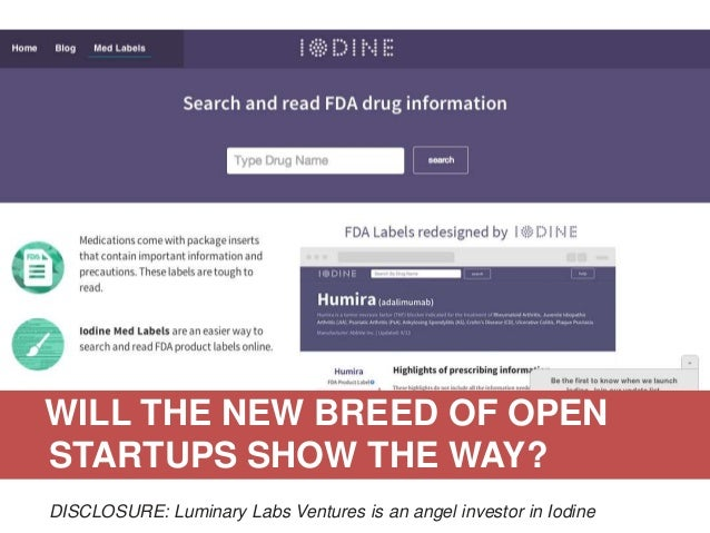 WILL THE NEW BREED OF OPEN STARTUPS SHOW THE WAY? University Open Data Access (YODA) Project: With J&J, Medtronic, Microso...