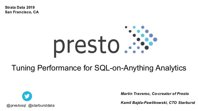 Tuning Performance for SQL-on-Anything Analytics Martin Traverso, Co-creator of Presto Kamil Bajda-Pawlikowski, CTO Starbu...