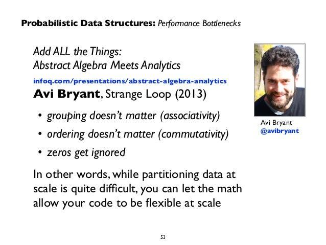 Add ALL the Things:  Abstract Algebra Meets Analytics  infoq.com/presentations/abstract-algebra-analytics  Avi Bryant, Str...