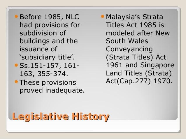 Strata title in malaysia