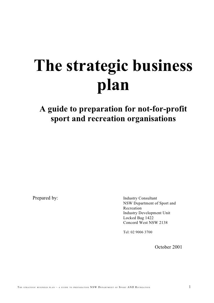 The Strategic Business Plan