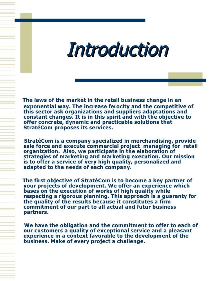 introduction of prospectus