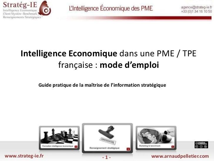 Strateg ie - arnaud pelletier - ie et pme - 2010