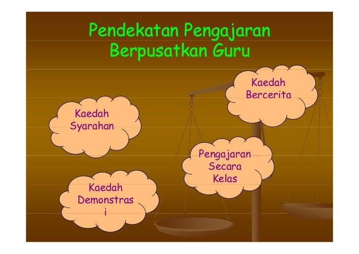 Pendekatan Pengajaran                  g j      Berpusatkan Guru                         Kaedah                        Ber...