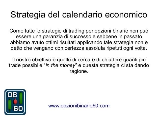 trading opzioni binarie strategia del calendario economico