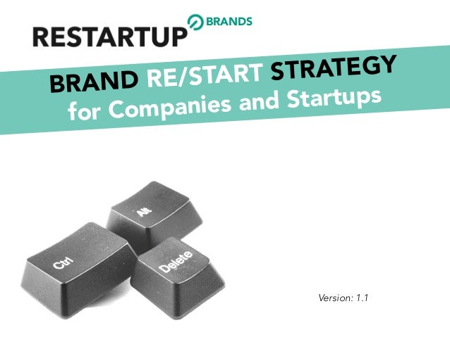 BRAND RE/START STRATEGY for Companies and Startups Version: 1.1 BRANDS