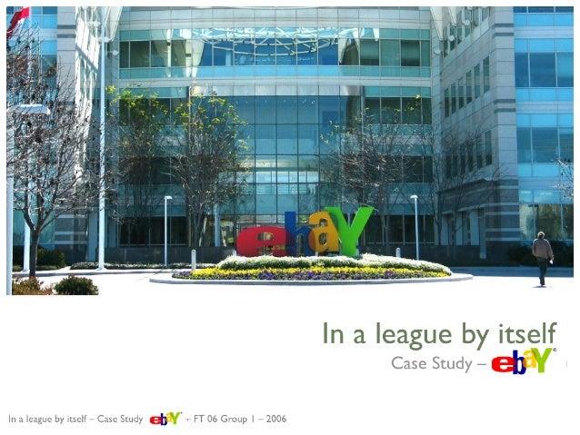 Strategic evaluation of eBay