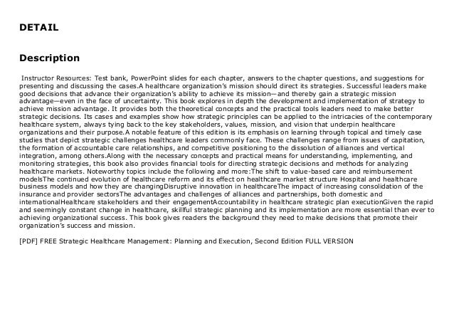 [PDF] FREE Strategic Healthcare Management: Planning and Execution, Second Edition FULL  Slide 2