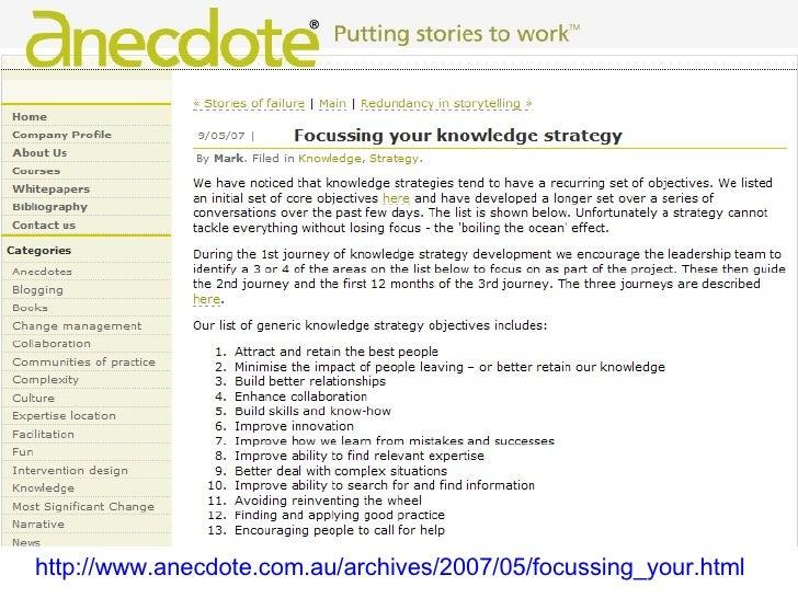 Strategic Knowledge Sharing