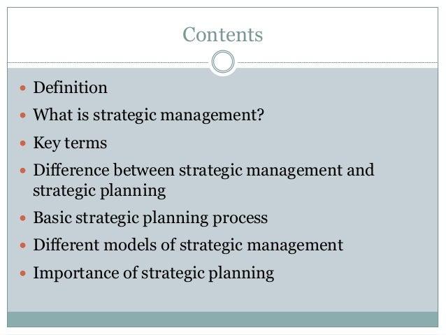 Strategic management and strategic planning Slide 2
