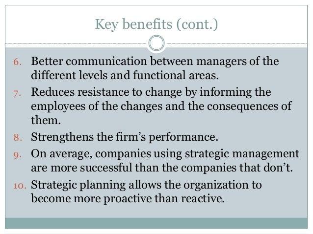 benefits of strategic management pdf