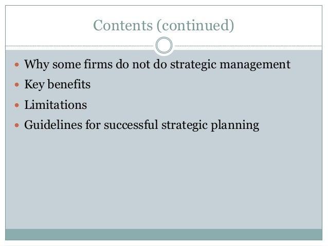 Strategic management and strategic planning Slide 3