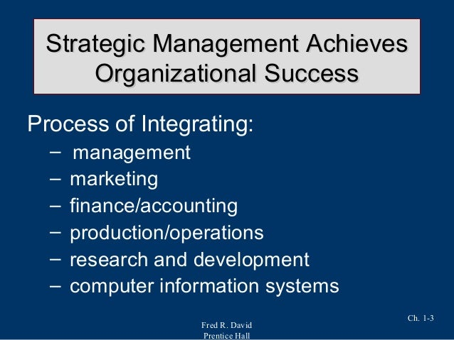 chap 3 fred r david This tows matrix is adapted from fred david's strategic management text  3  4 threat-strength (ts) strategies use strengths to avoid threats 1 2.
