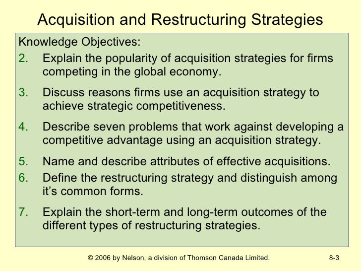 restructuring strategies in strategic management
