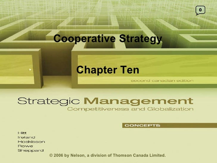0 © 2006 by Nelson, a division of Thomson Canada Limited. Cooperative Strategy Chapter Ten