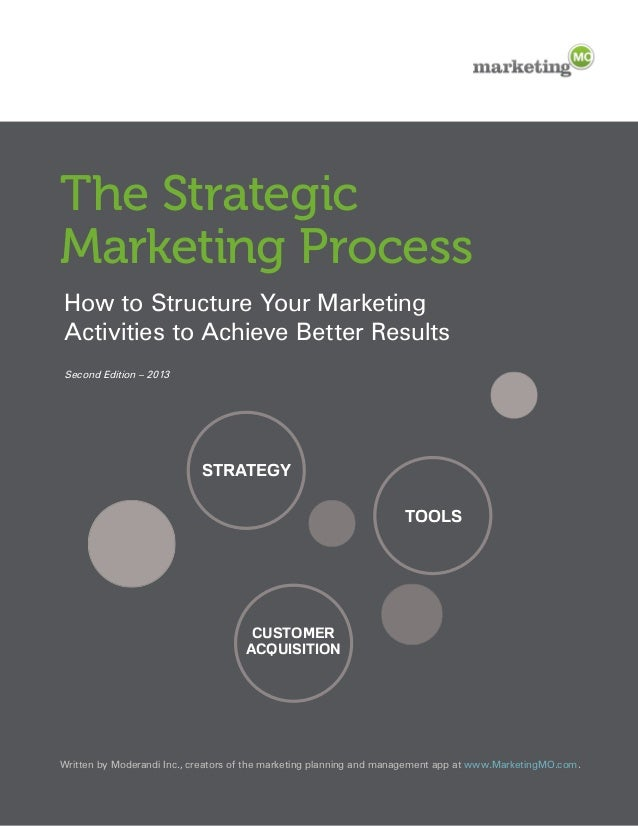 The StrategicMarketing ProcessHow to Structure Your Marketingactivities to achieve Better Results Second Edition – 2013   ...