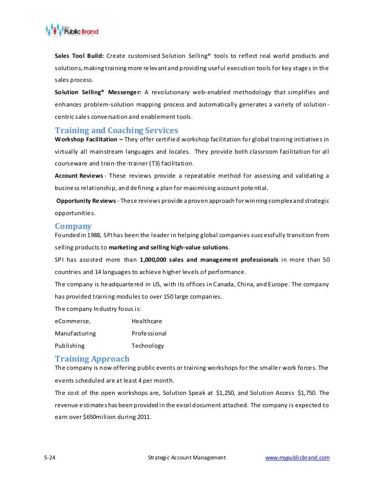 Strategic Account Management Methodology A Review By Tony