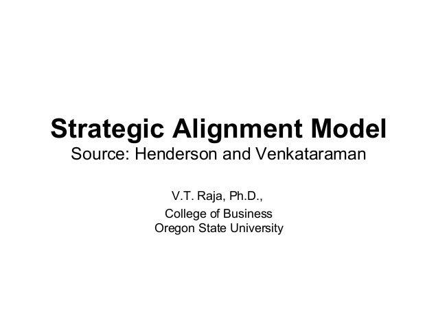 Strategic Alignment Model Source: Henderson and Venkataraman             V.T. Raja, Ph.D.,           College of Business  ...