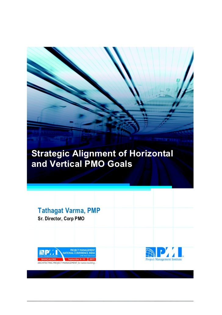 Strategic alignment of horizontal and vertical pmo goals final Slide 2