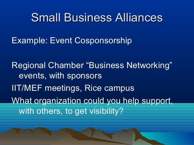 strategic business alliances examples