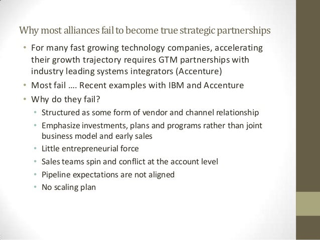 mistakes that leads to failure of strategic alliance Is to identify the way firms can address the high risk of failure, investigating the main factors that lead strategic alliances toward success the research aims to understand why, facing with such a high failure rate, more and more.