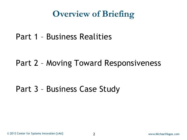 Responsive Business is Strategically Focused and Tactically Agile Slide 2