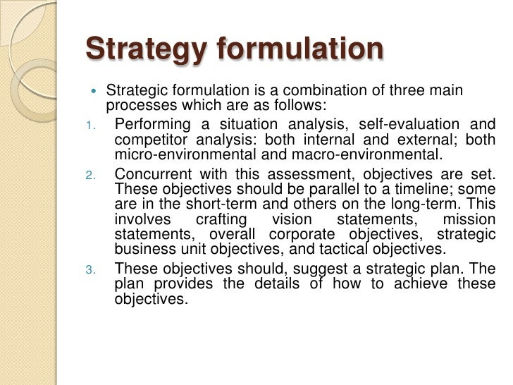 iii strategy formulation strategic options business May raise the question of whether the strategic 134 the strategy formulation related options strategic choice strategy', harvard business.