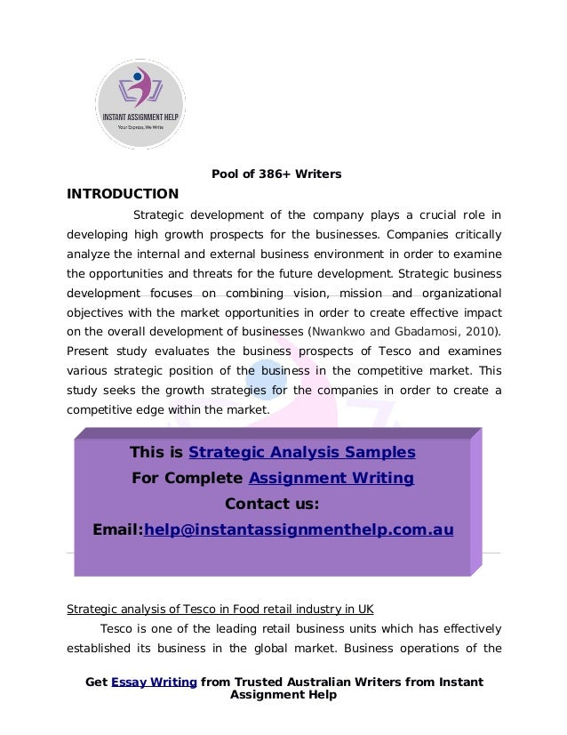 critical analyse of the external and internal environments essay