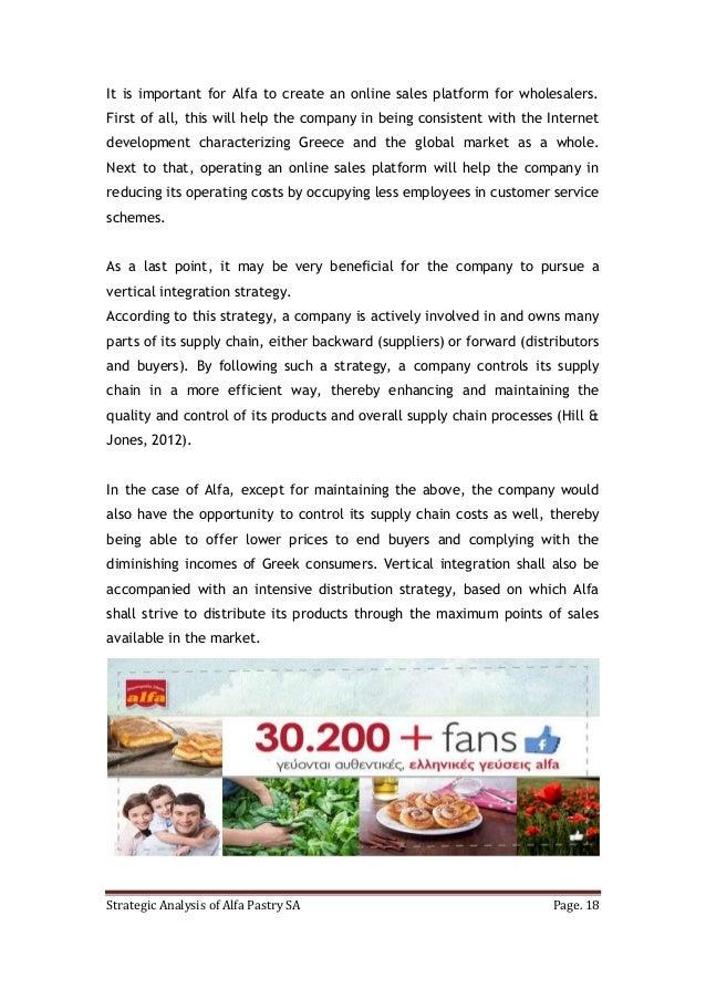 Marketing Strategic Analysis: Alfa Pastry SA case study