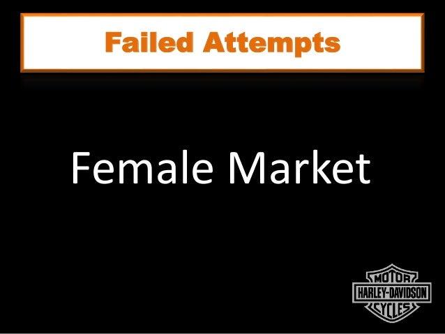 Failed Attempts Female Market