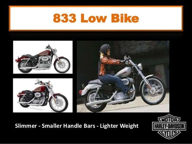 833 Low Bike Slimmer - Smaller Handle Bars - Lighter Weight