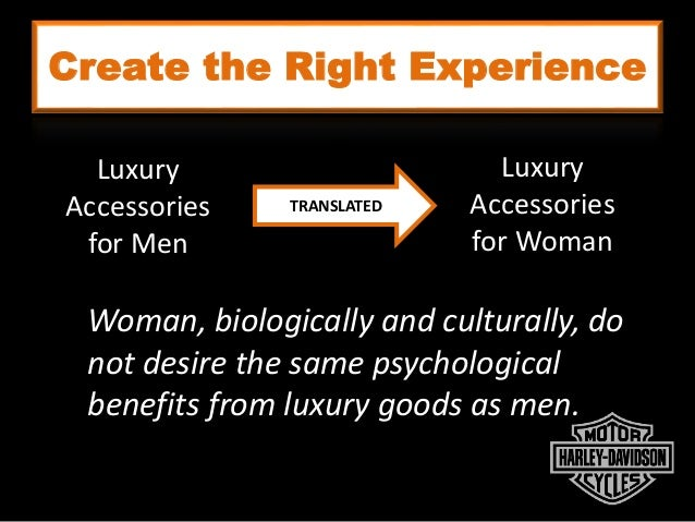 Create the Right Experience Luxury Accessories for Men Luxury Accessories for Woman TRANSLATED Woman, biologically and cul...