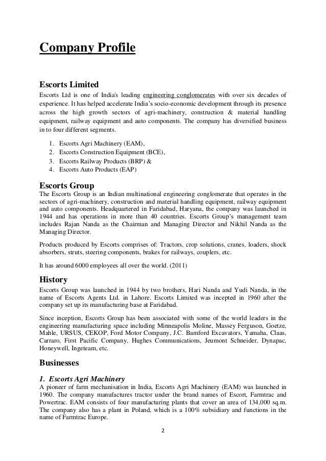 escort ltd company profile