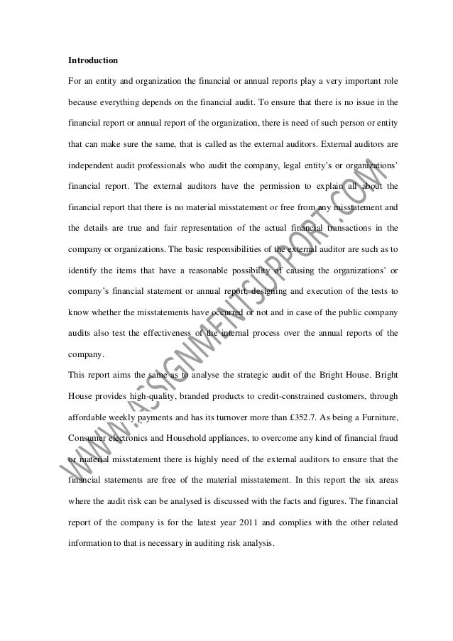 strategic audit report essay sample from assignmentsupport com essay  bright house strategic audit report submitted by student course university semester 2